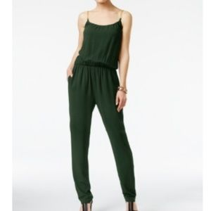 Michael Kors Petite Chain-Detail Jumpsuit Green